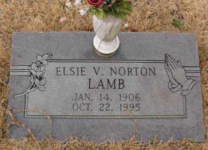 NORTON LAMB, ELSIE V. - Saline County, Arkansas   ELSIE V. NORTON LAMB - Arkansas Gravestone Photos