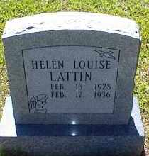 LATTIN, HELEN LOUISE - Saline County, Arkansas | HELEN LOUISE LATTIN - Arkansas Gravestone Photos