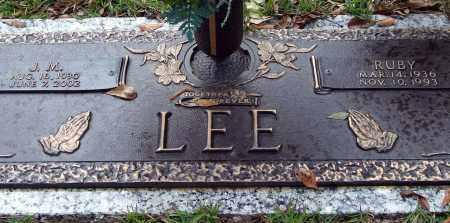 LEE, J. M. - Saline County, Arkansas | J. M. LEE - Arkansas Gravestone Photos