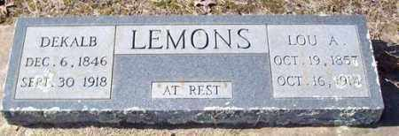 LEMONS, LOU A - Saline County, Arkansas | LOU A LEMONS - Arkansas Gravestone Photos