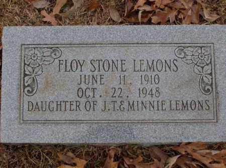 LEMONS, FLOY STONE - Saline County, Arkansas   FLOY STONE LEMONS - Arkansas Gravestone Photos