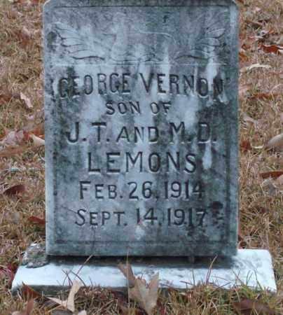 LEMONS, GEORGE VERNON - Saline County, Arkansas | GEORGE VERNON LEMONS - Arkansas Gravestone Photos