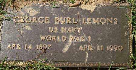 LEMONS  (VETERAN WWI), GEORGE BURL - Saline County, Arkansas | GEORGE BURL LEMONS  (VETERAN WWI) - Arkansas Gravestone Photos