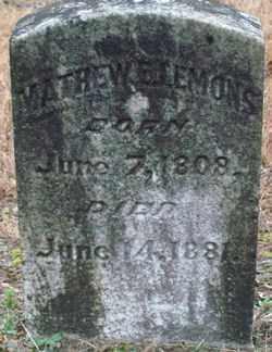 LEMONS, MATHEW E. - Saline County, Arkansas   MATHEW E. LEMONS - Arkansas Gravestone Photos
