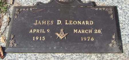 LEONARD, JAMES D. - Saline County, Arkansas | JAMES D. LEONARD - Arkansas Gravestone Photos