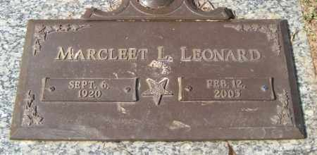 LEONARD, MARCLEET L. - Saline County, Arkansas | MARCLEET L. LEONARD - Arkansas Gravestone Photos
