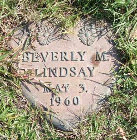 LINDSAY, BEVERLY M. - Saline County, Arkansas   BEVERLY M. LINDSAY - Arkansas Gravestone Photos
