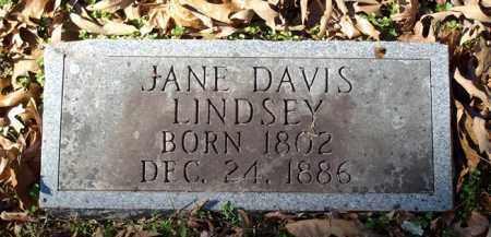 DAVIS LINDSEY, JANE - Saline County, Arkansas | JANE DAVIS LINDSEY - Arkansas Gravestone Photos