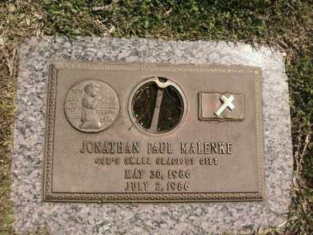 MALENKE, JONATHAN PAUL - Saline County, Arkansas | JONATHAN PAUL MALENKE - Arkansas Gravestone Photos