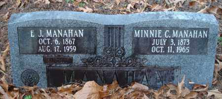 MANAHAN, MINNIE C. - Saline County, Arkansas | MINNIE C. MANAHAN - Arkansas Gravestone Photos