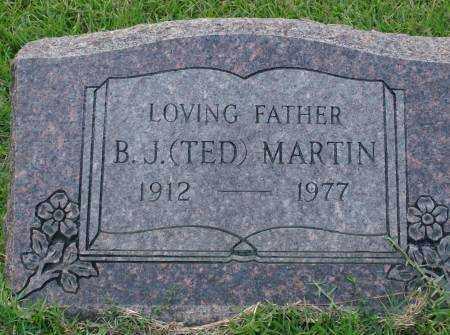 MARTIN, B.J. - Saline County, Arkansas   B.J. MARTIN - Arkansas Gravestone Photos