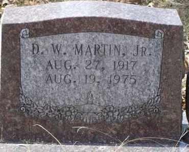 MARTIN JR, D. W. - Saline County, Arkansas | D. W. MARTIN JR - Arkansas Gravestone Photos