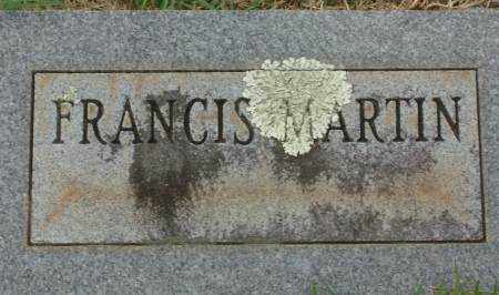 MARTIN, FRANCIS - Saline County, Arkansas | FRANCIS MARTIN - Arkansas Gravestone Photos