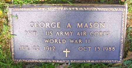 MASON (VETERAN WWII), GEORGE A - Saline County, Arkansas | GEORGE A MASON (VETERAN WWII) - Arkansas Gravestone Photos