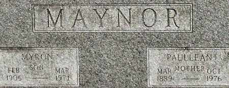 MAYNOR, PAULLEAN (CLOSEUP) - Saline County, Arkansas | PAULLEAN (CLOSEUP) MAYNOR - Arkansas Gravestone Photos