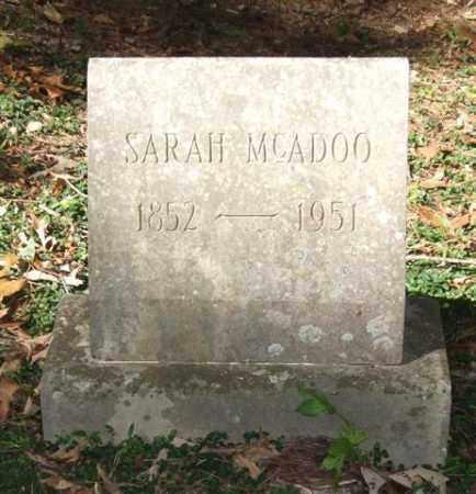 MCADOO, SARAH - Saline County, Arkansas | SARAH MCADOO - Arkansas Gravestone Photos