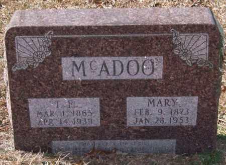 MCADOO, THOMAS F. - Saline County, Arkansas | THOMAS F. MCADOO - Arkansas Gravestone Photos
