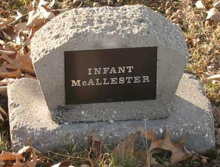 MCALLESTER, INFANT - Saline County, Arkansas | INFANT MCALLESTER - Arkansas Gravestone Photos