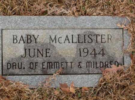 MCALLISTER, BABY - Saline County, Arkansas | BABY MCALLISTER - Arkansas Gravestone Photos