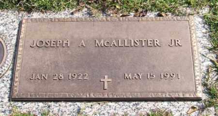 MCALLISTER, JR., JOSEPH A. - Saline County, Arkansas   JOSEPH A. MCALLISTER, JR. - Arkansas Gravestone Photos