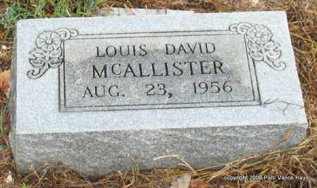 MCALLISTER, LOUIS DAVID - Saline County, Arkansas | LOUIS DAVID MCALLISTER - Arkansas Gravestone Photos