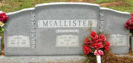 MCALLISTER, LOUIS - Saline County, Arkansas | LOUIS MCALLISTER - Arkansas Gravestone Photos
