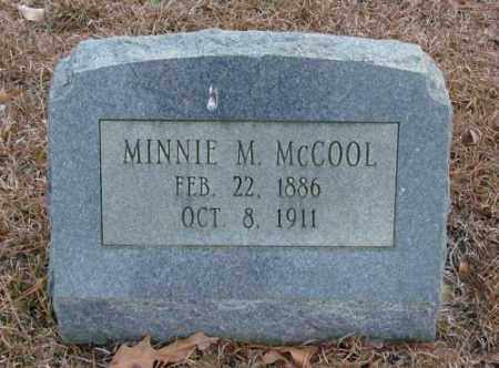 MCCOOL, MINNIE M. - Saline County, Arkansas   MINNIE M. MCCOOL - Arkansas Gravestone Photos