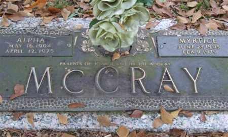 MCCRAY, MYRTICE - Saline County, Arkansas | MYRTICE MCCRAY - Arkansas Gravestone Photos