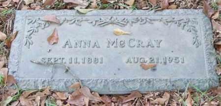 MCCRAY, ANNA - Saline County, Arkansas   ANNA MCCRAY - Arkansas Gravestone Photos