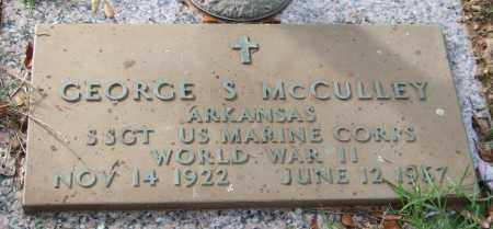 MCCULLEY (VETERAN WWII), GEORGE S - Saline County, Arkansas | GEORGE S MCCULLEY (VETERAN WWII) - Arkansas Gravestone Photos