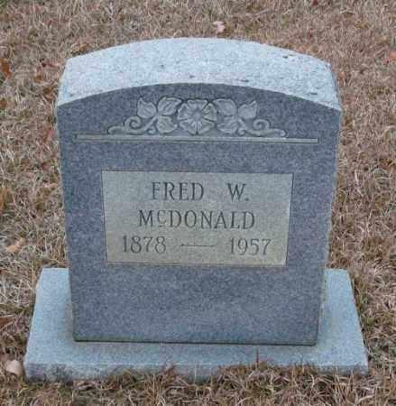 MCDONALD, FRED W - Saline County, Arkansas   FRED W MCDONALD - Arkansas Gravestone Photos
