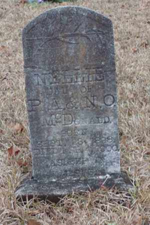 MCDONALD, NELLIE - Saline County, Arkansas | NELLIE MCDONALD - Arkansas Gravestone Photos