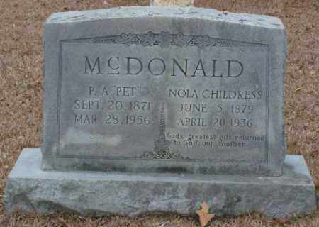MCDONALD, NOLA - Saline County, Arkansas | NOLA MCDONALD - Arkansas Gravestone Photos