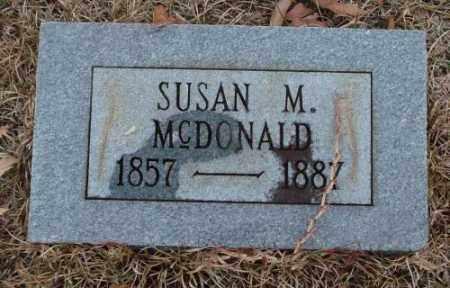 MCDONALD, SUSAN M. - Saline County, Arkansas | SUSAN M. MCDONALD - Arkansas Gravestone Photos
