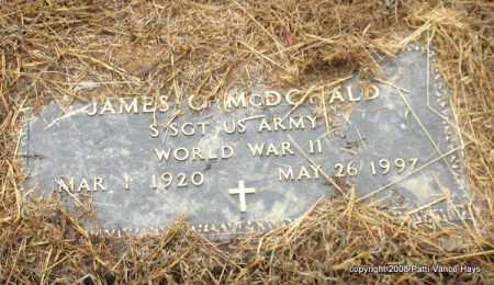 MCDONALD (VETERAN WWII), JAMES O. - Saline County, Arkansas   JAMES O. MCDONALD (VETERAN WWII) - Arkansas Gravestone Photos