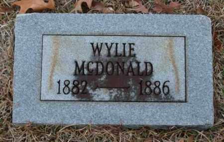 MCDONALD, WYLIE - Saline County, Arkansas | WYLIE MCDONALD - Arkansas Gravestone Photos