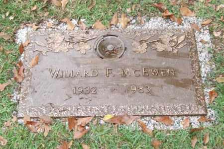 MCEWEN, WILLARD F. - Saline County, Arkansas | WILLARD F. MCEWEN - Arkansas Gravestone Photos