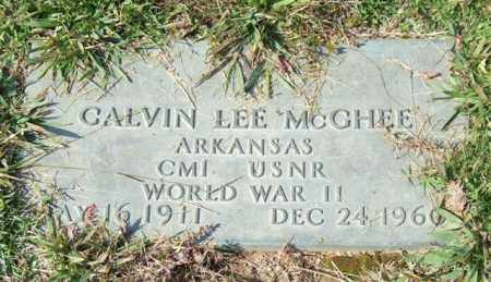 MCGHEE (VETERAN WWII), CALVIN LEE - Saline County, Arkansas | CALVIN LEE MCGHEE (VETERAN WWII) - Arkansas Gravestone Photos