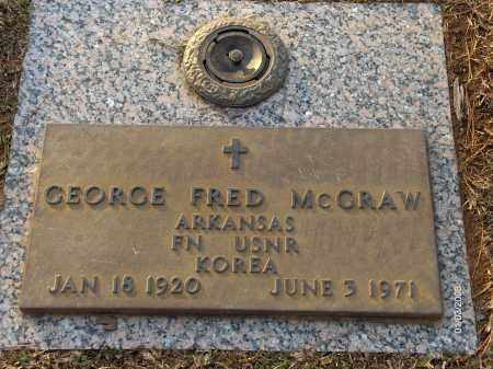 MCGRAW (VETERAN KOR), GEORGE FRED - Saline County, Arkansas | GEORGE FRED MCGRAW (VETERAN KOR) - Arkansas Gravestone Photos