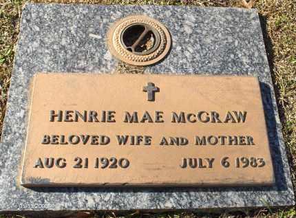 AKINS MCGRAW, HENRIE MAE - Saline County, Arkansas | HENRIE MAE AKINS MCGRAW - Arkansas Gravestone Photos