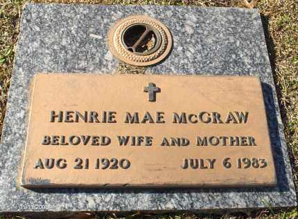 AKINS MCGRAW, HENRIE MAE - Saline County, Arkansas | HENRIE MAE AKINS MCGRAW - Arkansas Gravestone Photos