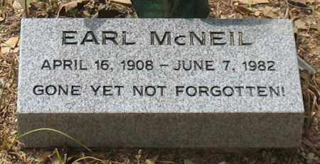 MCNEIL, EARL - Saline County, Arkansas   EARL MCNEIL - Arkansas Gravestone Photos
