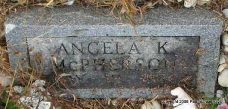 MCPHERSON, ANGELA K. - Saline County, Arkansas | ANGELA K. MCPHERSON - Arkansas Gravestone Photos
