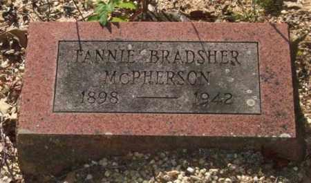 BRADSHER MCPHERSON, FANNIE - Saline County, Arkansas | FANNIE BRADSHER MCPHERSON - Arkansas Gravestone Photos