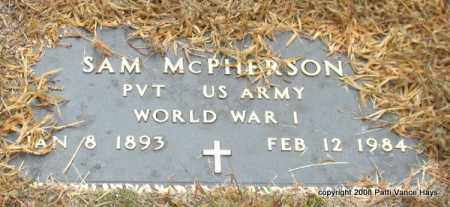 MCPHERSON (VETERAN WWI), SAMUEL - Saline County, Arkansas | SAMUEL MCPHERSON (VETERAN WWI) - Arkansas Gravestone Photos