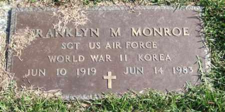 MONROE (VETERAN 2 WARS), FRANKLYN M. - Saline County, Arkansas | FRANKLYN M. MONROE (VETERAN 2 WARS) - Arkansas Gravestone Photos