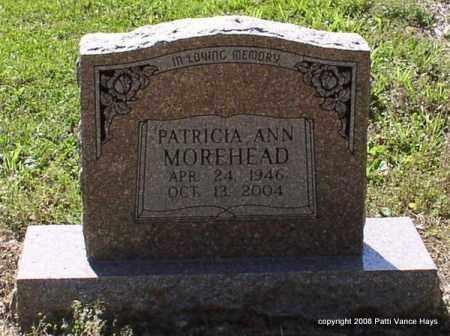 MOREHEAD, PATRICIA ANN - Saline County, Arkansas   PATRICIA ANN MOREHEAD - Arkansas Gravestone Photos