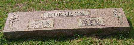 MORRISON, ELLA E. - Saline County, Arkansas | ELLA E. MORRISON - Arkansas Gravestone Photos