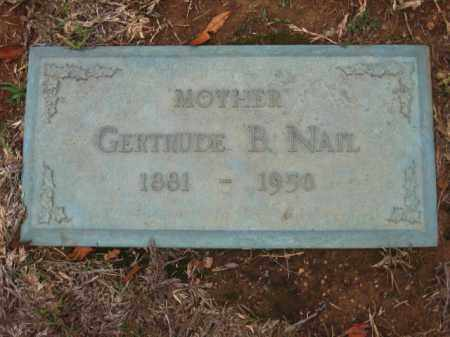 MATHES NAIL, GERTRUDE BELL - Saline County, Arkansas | GERTRUDE BELL MATHES NAIL - Arkansas Gravestone Photos