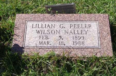PEELER NALLEY, LILLIAN GERTRUDE - Saline County, Arkansas | LILLIAN GERTRUDE PEELER NALLEY - Arkansas Gravestone Photos